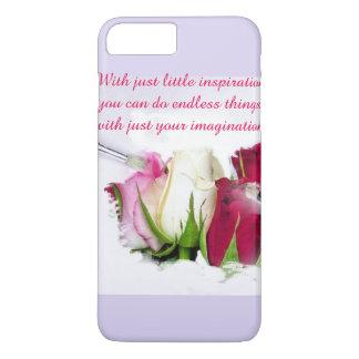 Roses de peinture coque iPhone 7 plus