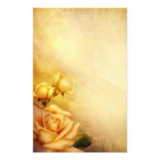 Roses d'or vintages papiers à lettres