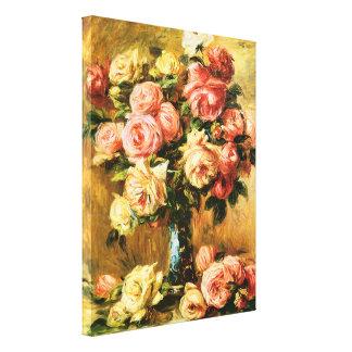 Roses en beaux-arts de Renoir de vase Toiles