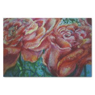 Roses en pastel papier mousseline
