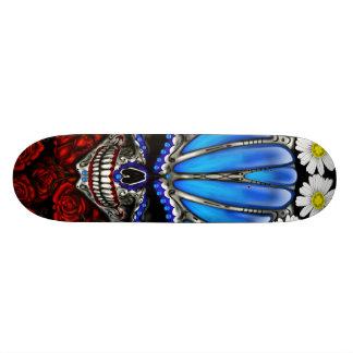 Roses et marguerite de crâne de sucre skateboard 19,7 cm