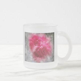 Roses et scintillement tasse givré