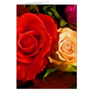 Roses jaunes rouges heureux du jour de mère III Cartes