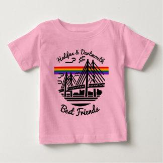 Roses pâles de meilleurs amis de Halifax Dartmouth T-shirt Pour Bébé