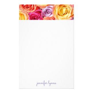 Roses Papiers À Lettres
