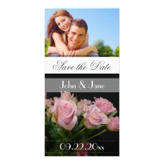 """Roses roses /photo """"économies la date """" photocarte"""