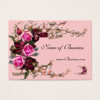 Roses roses vintages de carte de profil