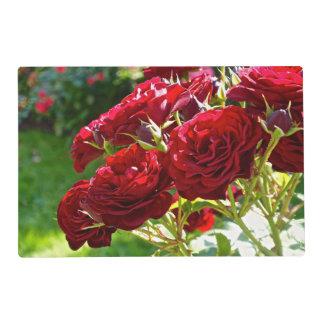Roses rouges set de table stratifié