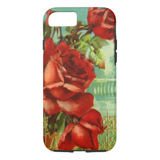 Roses rouges vintages coque iPhone 8/7