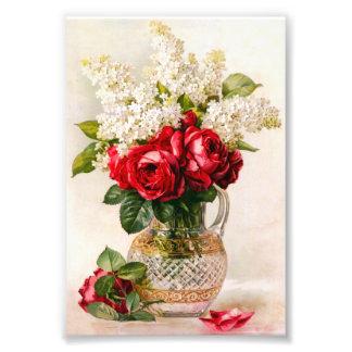 Roses rouges vintages et souffle du bébé tirages photo