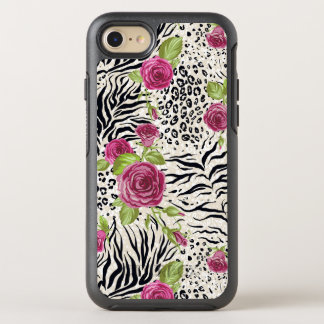 Roses sur le motif animal coque otterbox symmetry pour iPhone 7