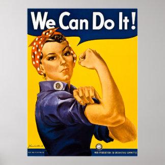 Rosie de Klinkhamer kunnen wij het doen!  Vintage  Poster