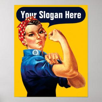 Rosie le rivoir - ajoutez votre propre slogan fait