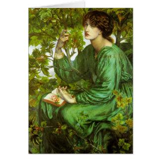 Rossetti la carte de voeux de rêve de jour