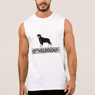Rottweiler humoristique t-shirt sans manches
