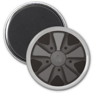 Roue classique de courses d'automobiles de sports magnet rond 8 cm