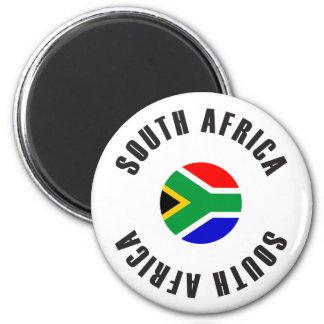 Roue de drapeau de l'Afrique du Sud Aimant