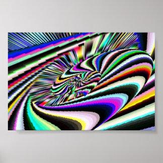 Roue de rotation III psychédélique Affiches