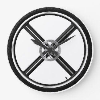 Roue de vélo de montagne grande horloge ronde