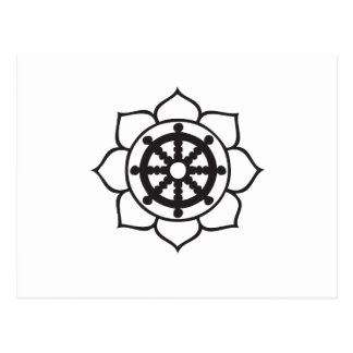 Roue Lotus de Dharma Carte Postale