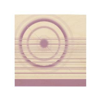 roue violette impression sur bois