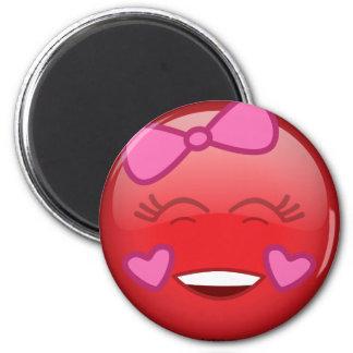 Rouge aimé magnets pour réfrigérateur