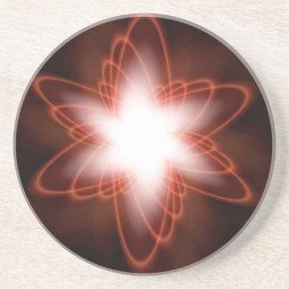 Rouge atomique dessous de verres