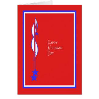 Rouge, blanc et bleu de carte de jour de vétérans