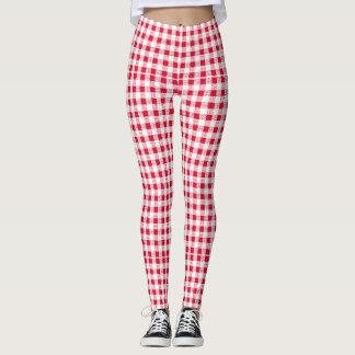 rouge-blanc leggings