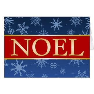 Rouge bleu d'A7 Noel et carte de Noël d'or