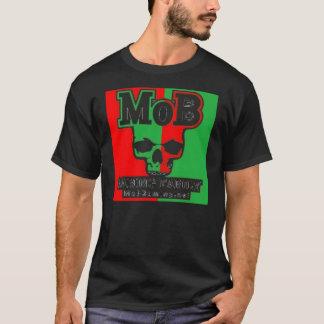 Rouge de foule et vert noirs t-shirt