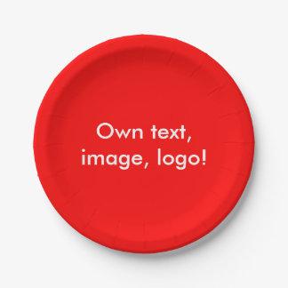 Rouge de plaques à papier uni assiettes en papier