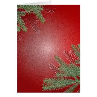 Rouge de poinsettia de Noël Cartes De Vœux