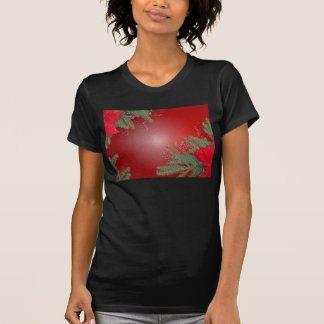 Rouge de poinsettia de Noël T Shirt
