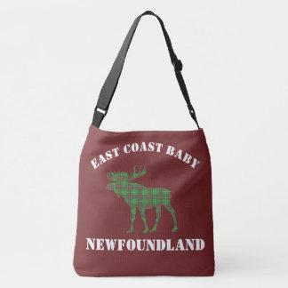 Rouge de sac de tartan de Terre-Neuve d'orignaux