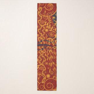 Rouge de style de Nouveau et écharpe de mousseline