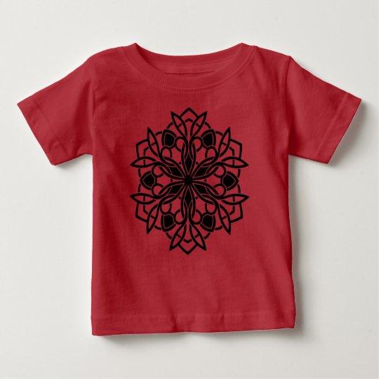 rouge de t shirt de petites filles avec le mandala zazzle. Black Bedroom Furniture Sets. Home Design Ideas