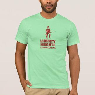 Rouge de tailles de liberté empilé (la pièce en t t-shirt
