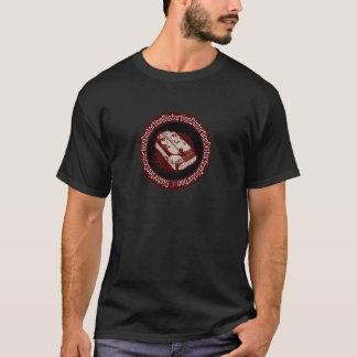 Rouge et blanc de ton de la pédale deux de t-shirt