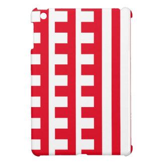 Rouge et blanc peigne la dent étuis iPad mini