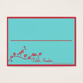 Rouge et cartes florales de nombre de Tableau de