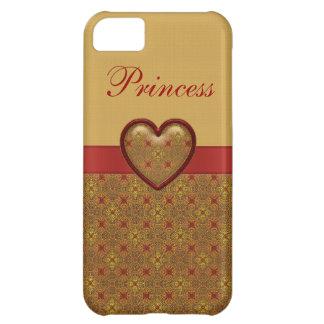 Rouge et iPhone 5 de princesse de coeur d'or Coque iPhone 5C
