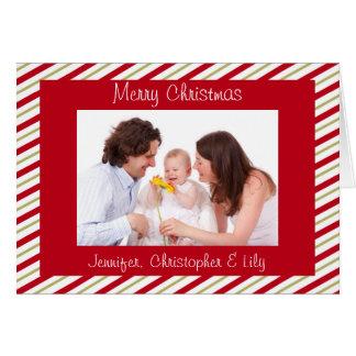 Rouge et Noël fait sur commande de photo de Carte De Vœux