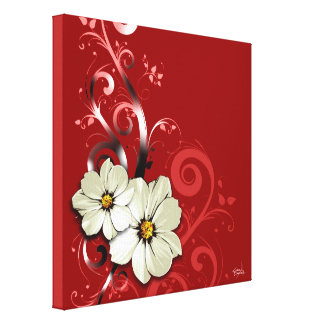 Rouge floral fleuri du Flourish | Toiles