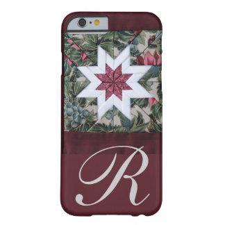 Rouge foncé d'étoile d'édredon coque barely there iPhone 6