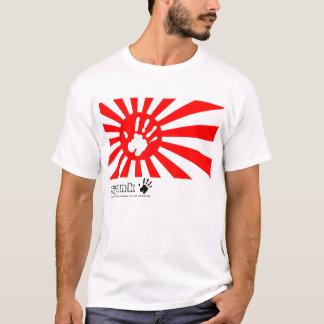 Rouge japonais de fessée t-shirt