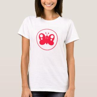 Rouge mignon Buttefly d'écarlate T-shirt