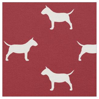Rouge miniature de motif de silhouettes de tissu