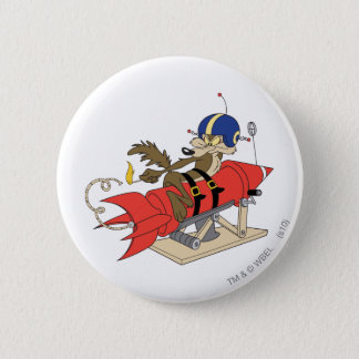 Rouge Rocket d'E. Coyote Launching de Wile Badge Rond 5 Cm