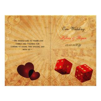 Rouge rustique de Vegas plié épousant le programme Tract